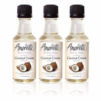 Amoretti Premium Coconut Cream Syrups 50ml 3 Pack