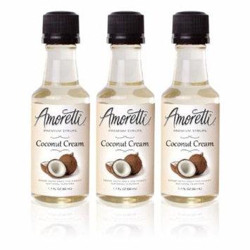 Amoretti Premium Coconut Cream Syrups 50ml 3 Pack