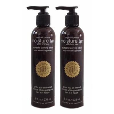 Moisture Tan Professional Self Tanner w/ Instant Bronzer 8oz (2 Pack) -- Voted #1 Self Tanner 2016 --