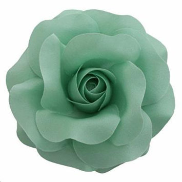 Sara Monica Flower Hair Clip and Pin Rose:Made in the USA (Mint)