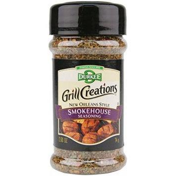 Durkee Grill Creations Seasoning 2.4oz - 4.6oz Bottle (Pack of 3) Choose Flavor Below (New Orleans Style Smokehouse Seasoning 2.6oz)