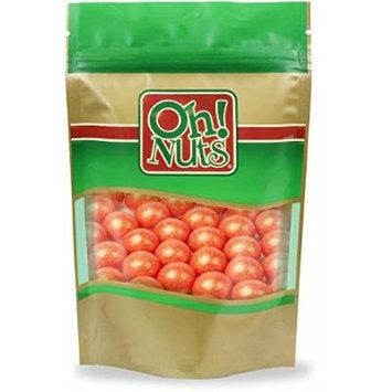 Shimmer Orange Pearl 1 Inch Gumballs 2 Pound Bag - Oh! Nuts