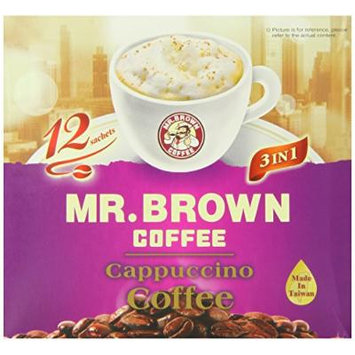 Mr. Brown 3 in 1 Cappuccino Instant Coffee, 6.35 Ounce