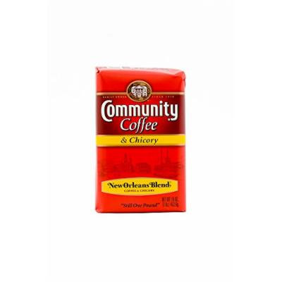 Community Coffee Premium Ground Coffee and Chicory, 16 Ounce (Pack of 10)