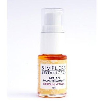 Neroli And Vetiver Argan Facial Treatment Organic Simplers Botanicals 15 ml Oil