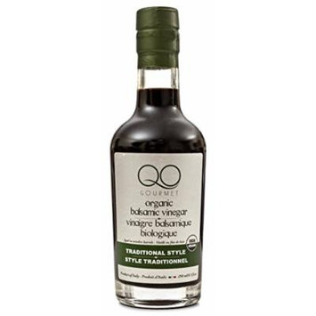 QO Gourmet Balsamic Vinegar of Modena , High Density USDA Certified ORGANIC Traditional Style , Aged in Wooden Barrels , 250ml/8.5 fl.oz. , Product of Italy