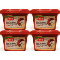 Haechandle Gochujang Hot Pepper Paste 1.1lbs - 1 Pack and 4 Pack- Combo (4 Pack)