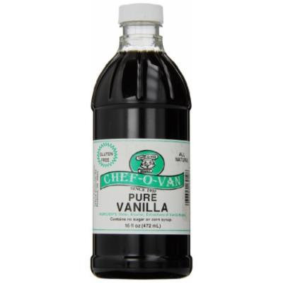 Chef-O-Van Natural Flavoring Extracts, Pure Vanilla, 16 Ounce