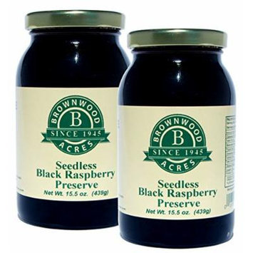 Seedless Black Raspberry Preserve - 2 PACK - Shipping Included