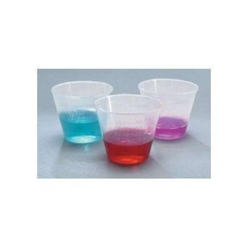 Medicine Cups - Plastic, 1 oz., 50 Pack / Case, 50 Tube / Case, 5,000 Unit / Case