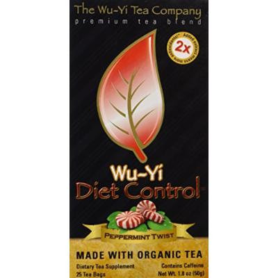 The Wu Yi Tea Company Tea, Pprmnt Flvr Diet Cntr, 25-Count