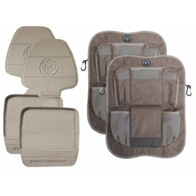 Prince Lionheart 2 Stage Seatsavers with Backseat Organizers, Set of 2, Tan/Brown