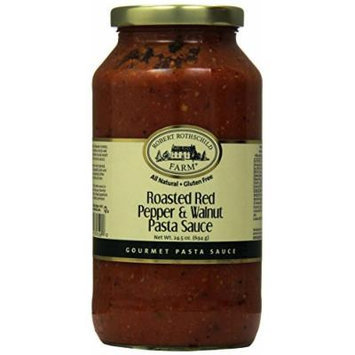 Robert Rothschild Farm Roasted Red Pepper and Walnut Pasta Sauce, 24.5 Ounce