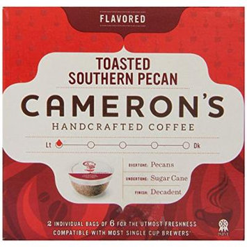 Cameron's Single Serve Coffee, Toasted Southern Pecan, 12 Count