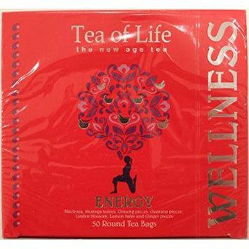 Tea of Life Energy, 50 Round Tea Bags 2.6 Oz.