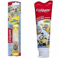 Colgate Kids Minions Power Toothbrush + Colgate Minions Mild Bubble Fruit Fluoride Toothpaste, 4.6 oz