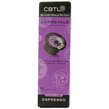 CBTL Carnevale Espresso Capsules By The Coffee Bean & Tea Leaf, 10-Count Box