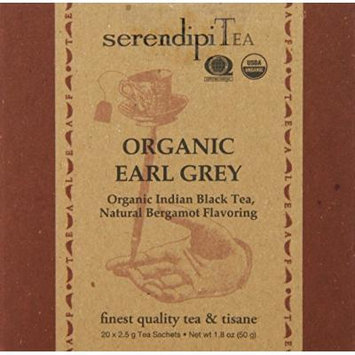 SerendipiTea Organic Tea Earl Grey, 20 Count (Pack of 8)