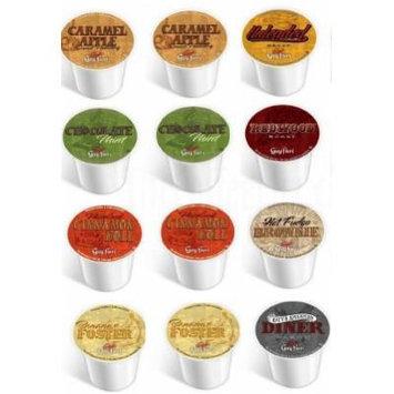 12 Pack - Guy Fieri Coffee Sampler, Single Cup Coffee for Keurig® - Bananas Foster, Caramel Apple, Hot Fudge Brownie, Chocolate Mint, American Diner, Cinnamon Roll