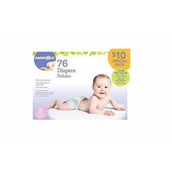Babies R Us Ultra Absorbent Diapers Size 2 - 76Ct