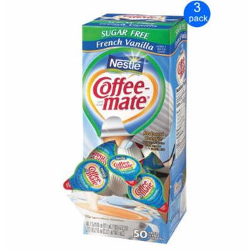 Nestlé Coffee-mate Creamer French Vanilla Sugar Free 3-pack;50 Count Each.