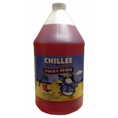 Chillee Snow Cone Syrup, Tiger's Blood, 128 Ounce (pack of 4)