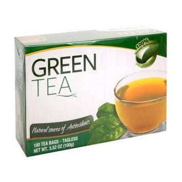 Green Tea Tagless Tea Bags - 100ct each (Pack of 2)