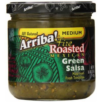 Arriba Fire Roasted Green Salsa, Medium, 16 Ounce