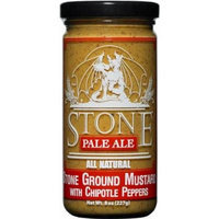 Mustard, Stone Pale Ale Stone Ground with Chipotle Peppers, 8oz. Glass Jar