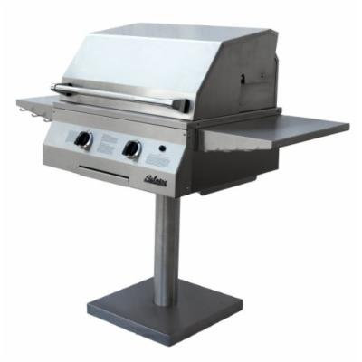 Solaire 27-Inch Deluxe InfraVection Propane Bolt-Down Post Grill, Stainless Steel