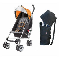 Summer Infant 3D Lite Convenience Stroller with Padded Travel Bag, Tangerine