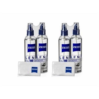Zeiss Lens Care Pack - 4 x 8oz Bottles Cleaner, 4 x Microfiber Cloths