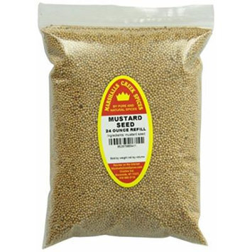 Marshalls Creek Spices Refill Pouch Mustard Seed Whole Seasoning, XL, 24 Ounce