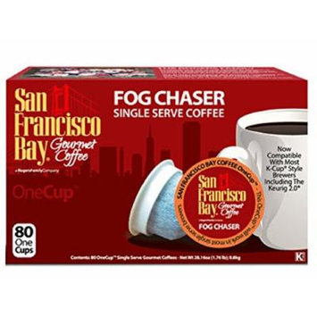 San Francisco Bay Fog Chaser 80 Ct Box 46059 - K-cup Fog Chaser Coffee - Biodegradable K-cups