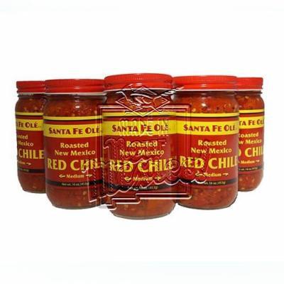 Santa Fe Ole Roasted New Mexico Red Chile Medium (6)