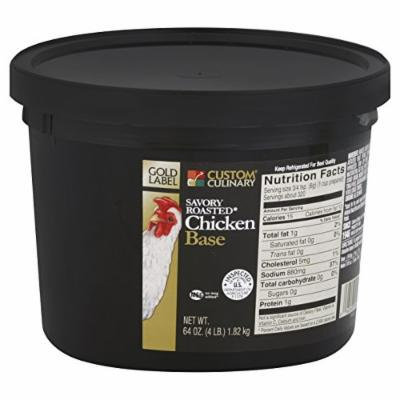 Custom Culinary Gold Label Base Savory Roasted Chicken, 4 Pound