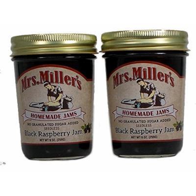Mrs Millers, No Sugar Seedless Black Raspberry Jam - 2 / 8 Oz. Jars