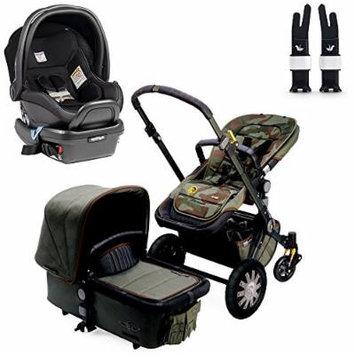 Bugaboo Cameleon3 Complete Stroller - Diesel Camouflage w Peg Perego Primo Viaggio 4/35 Car Seat (Licorice)