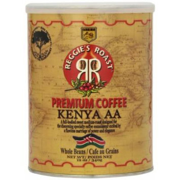 Reggie's Roast Kenya AA Whole Bean Coffee, 12-Ounce Cans (Pack of 3)