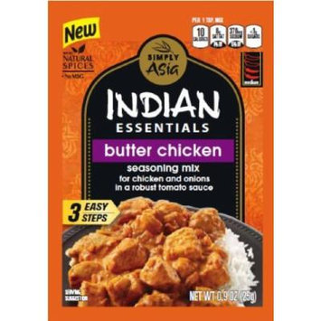 Indian Essentials Butter Chicken Seasoning Mix 0.9 Oz / 25 Grams (Pack of 4) Includes 3 Delicious Recipes