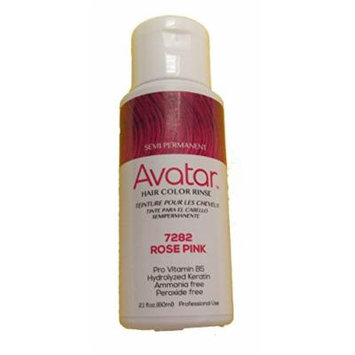 Avatar Semi Permanent Hair Color Rinse #7282 Rose Pink, Change your hair style, no mess, hair chemical, use warm, shake well, hair streaks, hair dye
