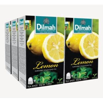 Dilmah, Fun Tea, Single Origin Pure Ceylon, Lemon, 20 Count String & Tag, (Pack of 6)