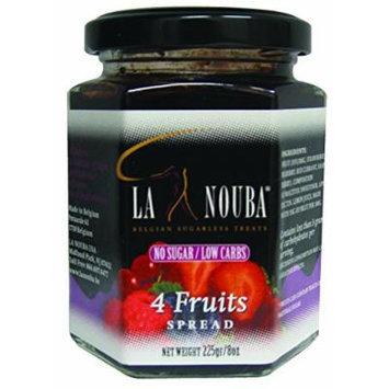 La Nouba Pure Fruit Jams, Four Fruits, 8 Ounce