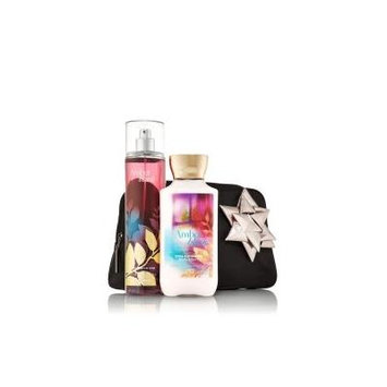 Bath and Body Works Gift Set 2013 V.i.p. Cosmetic Clutch Amber Blush