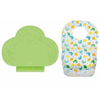Summer Infant Tiny Diner Placemat with 20-Count Disposable Bibs, Green