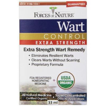 Forces of Nature Wart Control Extra Strength, 33 ml