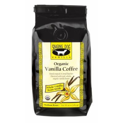 Singing Dog Vanilla Organic Vanilla Coffee With Whole Vanilla Bean Inside Medium Roast, 10-Ounce Bags (Pack of 2)