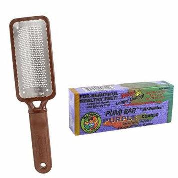 Microplane Foot File Colossal Callus Remover + Mr Pumice Coarse Purple Pumi Bar