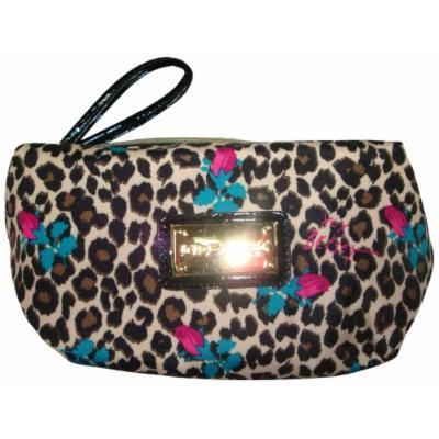 Betsey Johnson Women's Box Wristlet Cosmetic, Small, Cheetah Baby Natural