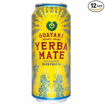 Guayaki Yerba Mate, Bluephoria, 16 Oz (Pack of 12)